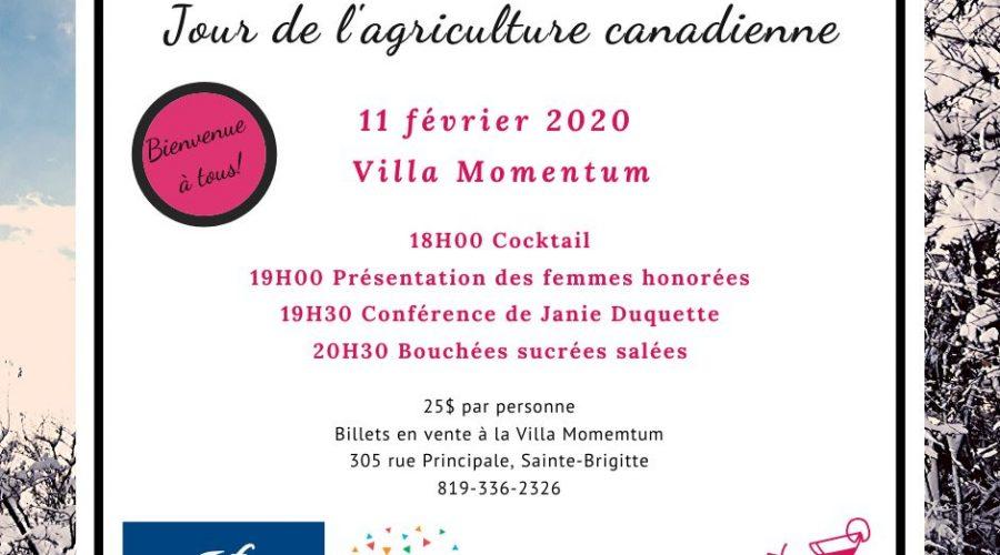11 Février 2020 – Jour de l'agriculture Canadienne